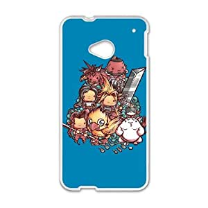 HTC One M7 Cell Phone Case White Cute Fantasy VII NEW Plastic Clear Cell Phone Cases GBG