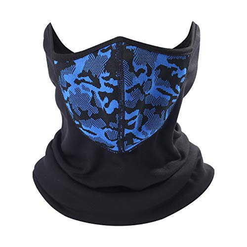 (Winter Face Scarf Mask Thermal Fleece Neck Warmer for Skiing Motorcycle Cycling Bike Hiking Skateboard)