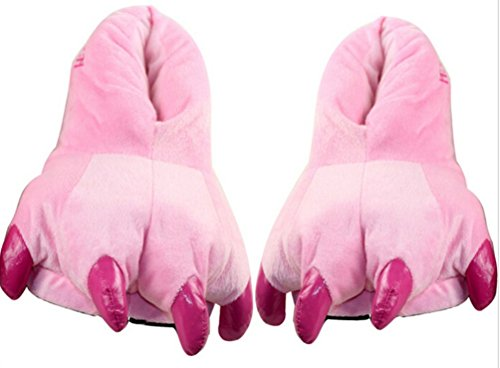 Sakady Animal Cospaly Paw Claws Shoes Halloween Costume Monster Plush Slippers (Cute Monster Costumes For Girls)