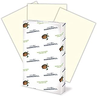 product image for Hammermill Colored Paper, 20 lb Cream Printer Paper, 8.5 x 14-1 Ream (500 Sheets) - Made in the USA, Pastel Paper