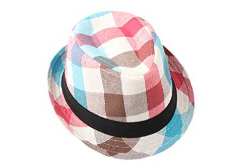 Dantiya-Kids-Little-Boys-Plaid-Cotton-Fedoras-Hat-Cap