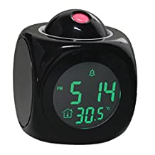 Zehui Multifunctional LED Colorful Projection Alarm Clock Talking Clock Sound Control Projection Clock