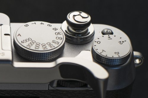 Lensmate Tri-Tadpole Soft Release Button - Black - fits Any Standard Threaded Release - Fujifilm XT3, X-E3, X-E2s, X-E2, X-T2, X-Pro2, X-T20 & X-T10, X100F & X100T by Lensmate