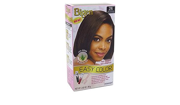 Bigen Easy Color - Tinte permanente para el cabello con aloe y aceite de oliva, 2.5 onzas