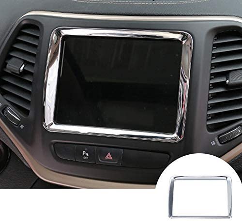 For Jeep Cherokee 2014-2018 ABS Chrome Center Console Cup Holder Cover Trim