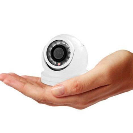 HIFROM(TM) 700tvl CCD Mini Professional Compact Hd 30m Ir Small Metal Mini Dome CCTV Camera 3.6mm Lens