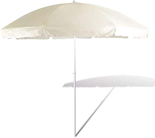Tidyard Sombrilla Parasol Playa/Terraza/Jardín/Tiempo Libre,Parasol De Playa 300 cm Color De Arena Amarilla: Amazon.es: Hogar