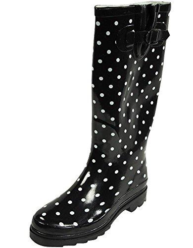 Waterproof Dots Sunville Rainboots Rubber Ii Garden Women's Mid Ditsy Calf UOqtgZ