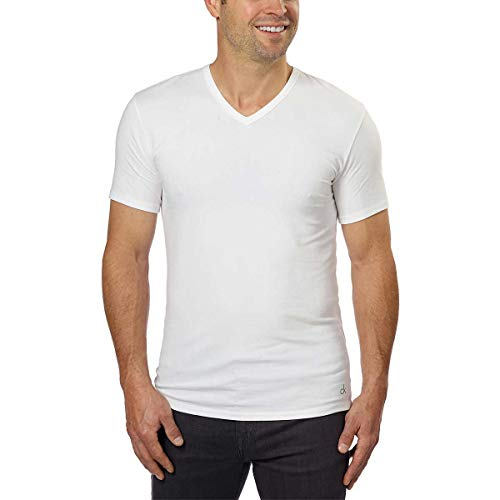 Calvin Klein Undershirts - Calvin Klein Cotton Stretch V-Neck, Classic Fit T-Shirt, Men's (3-pack) (White or Black) (White, Large)