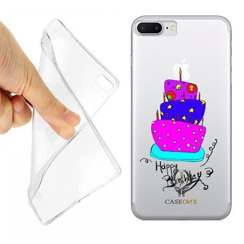 Caseone linea top CUSTODIA COVER CASE CASEONE BIRTHDAY CAKE PER IPHONE 7 PLUS TRASPARENTE