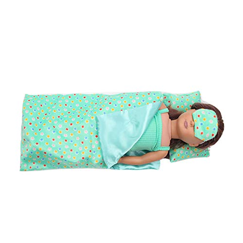 AMOFINY Bedding Set Sleeping Bag for 18 Inch for American Girl Doll Accessory Girl's Toy - Patrick House Rock Star