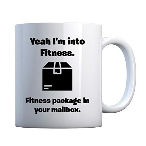 Mug Fitness Package in your Mailbox 11oz Pearl White Gift Mug