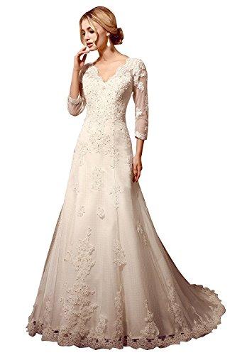 Kevins Bridal Double V-neck Sleeveless Crystals Belt Chiffon Bridal Gown White -