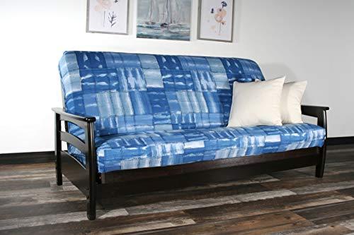 (Strata Furniture Galena Black Walnut Full Wall Hugger Futon Frame (KD))
