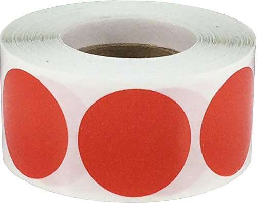 Color Coding Labels Red Round Circle Dots For Organizing Inventory 1 Inch 500 Total Adhesive Stickers