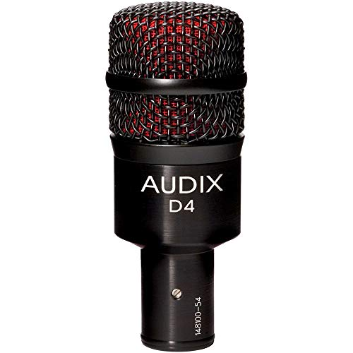 Audix D4 Dynamic Instrument Microphone with 1 Year Free Extended Warranty