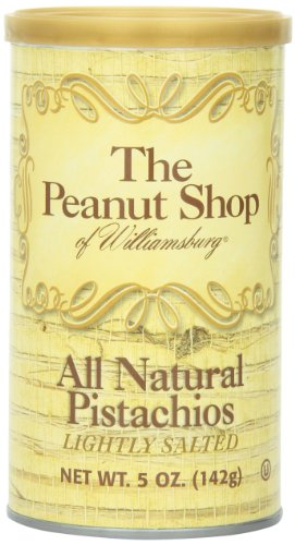 Peanuts Gift Tin (The Peanut Shop of Williamsburg All Natural Pistachios, 5-Ounce Tin)