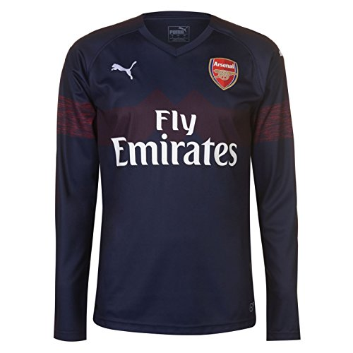 PUMA 2018-2019 Arsenal Away Long Sleeve Football Soccer T-Shirt Jersey