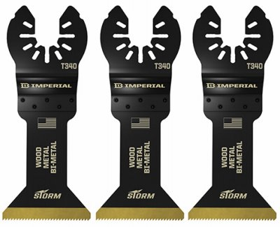 Imperial Blades IBOAT340-3 Oscillating Tool Blade, Wood With Nails, Bi-Metal, 1.75-In., 3-Pk. - Quantity 25