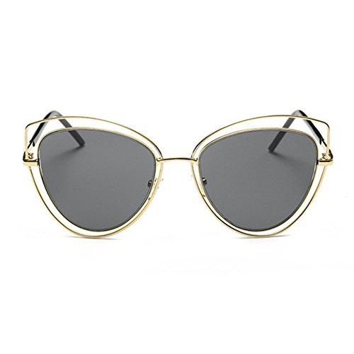Aoligei Série européenne tendances lunettes de soleil mode Punk tour cadre personnalité lunettes de soleil miroir jambe rap8jgCIE