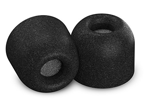 Comply Isolation Plus Noise Cancelling Memory Foam Earphone Tips for Audio-Technical, Bose QuietComfort 20, Denon, JVC, RHA, SoundMAGIC &More, Replacement Secure Fit Earbud Tips, Tx-400 (Large, 3 Pair