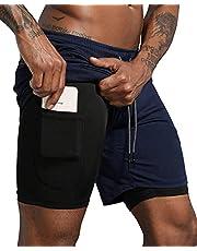 Lachi Zwembroek voor heren, zwemshorts, zomer, korte broek met strepen, zwembroek, strandbroek, herenshorts, sport