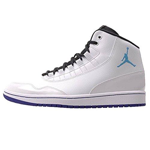 promo code 59b29 ae514 Nike Jordan Executive Mens Basketball Shoe White Blue Lagoon Concord Black  (9)