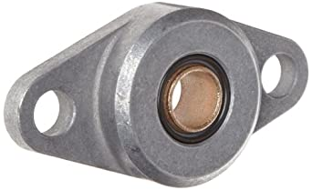 """Spyraflo HF2-500-B Self-Aligning, SAE-840 Oil Impregnated Bronze Bearing With Aluminum 2-Bolt Hole, 1/2"""" Inner-Diameter Housing-Flange"""
