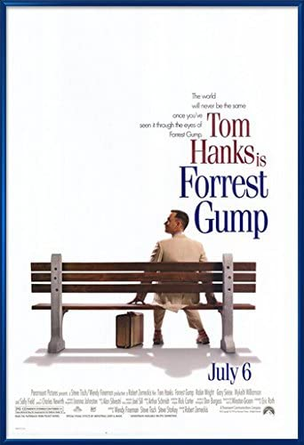 Amazon.com: Forrest Gump - Framed Movie Poster/Print (Regular Style) (Size:  27 inches x 40 inches): Posters & Prints