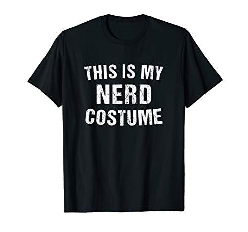 Nerd Costume Geek Halloween T Shirt Nerdy -