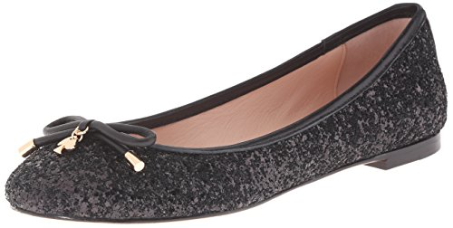 Kate Spade New York Women's Willa Ballet Flat, Black Glitter, 10 UK/10 M US -