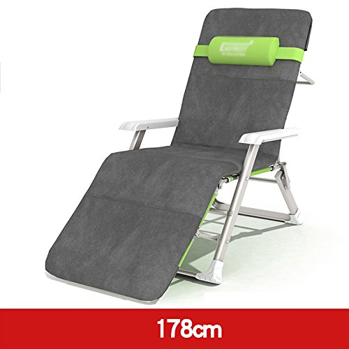 ZR- 個人 倍 ベッドラウンジチェア ベッド 安楽椅子 事務所 シエスタベッド 椅子 ソファー (色 : 178cm-green+cushion) B07DKFXLZT 178cm-green+cushion 178cmgreen+cushion