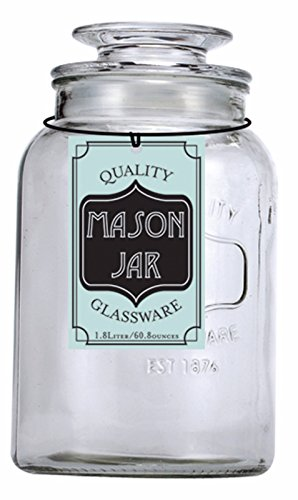 Euro Ware 1.8 Liter Glass Mason Jar Container - Large