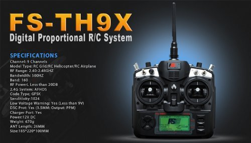 FS-TH9X 2.4GHz 9CH Transmitter - RC Helicopters/ Airplane...