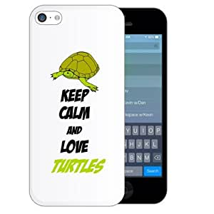 SudysAccessories Keep Calm And Love Turtles iPhone 5C Case- SoftShell Full Plastic Direct Printed Graphic Case