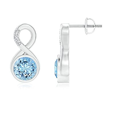 Angara Bezel-Set Amethyst Infinity Stud Earrings in Platinum cMtJeC0E5