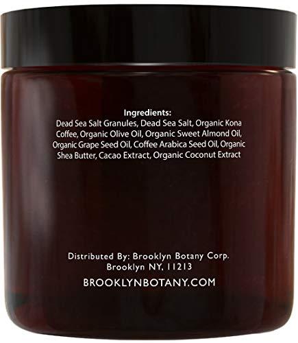 Brooklyn Botany Arabica Coffee Body Scrub – Moisturizing and Exfoliating Body, Face, Hand, Foot Scrub – Fights Stretch…