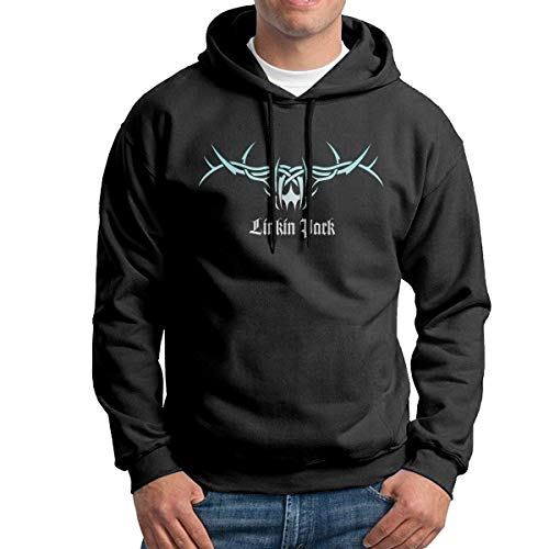 Linkin Park Men's Long Sleeve Casual Hoodie Hooded Sweatshirt Drawstring Black
