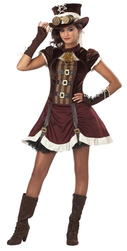 California Costumes Steampunk Girl Tween Costume, (Halloween Costumes Steampunk)