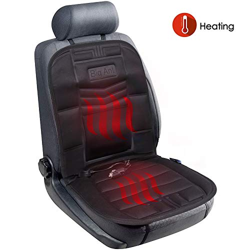 Big Ant Heated Seat Cushion, 12V Car Heat Seat Cushions Cover Pad Winter Warmer Nonslip Heated Seat Cover - Universal Fit for Auto Supplies Home Office Chair(Black) (Electric Seat Heated Cushion)