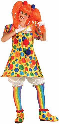 Clown Fishnet Stockings Accessory,Rainbow,Standard
