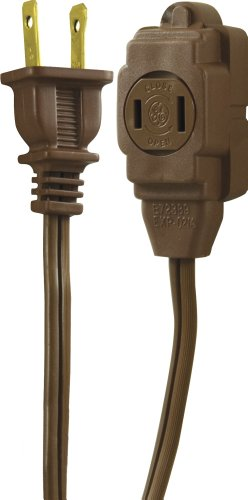 extension cord 15 feet brown - 1