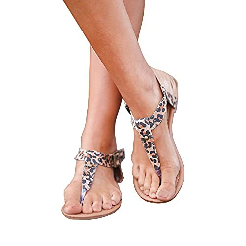 2031a13b0306 ZuQing Womens Ankle Buckle Strap Thong Gladiator Sandals Summer Pu Leather  Casual Cover Up Flats sandal