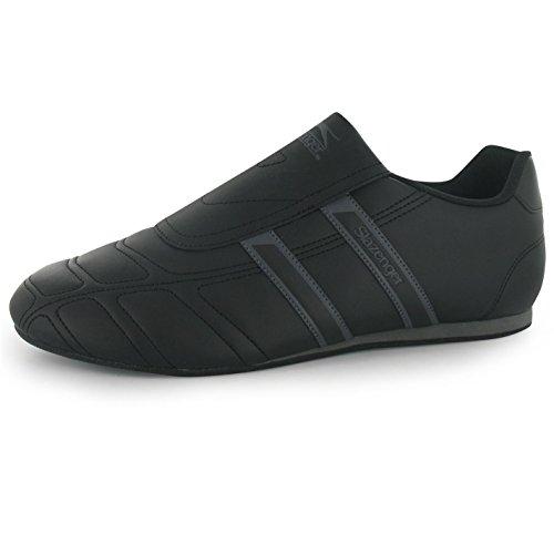 Slazenger Herren Warrior slipperturnschuhe schwarz/charcoal Casual Sneakers Schuhe