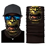 HighlifeS Cycling Motorcycle Head Scarf Full Function More Colors Ski Motorcycle Neck Tube Warmer Cycling Biker Scarf Wind Face Mask (D)