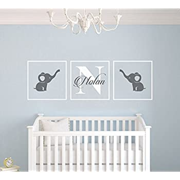 Perfect Personalized Name Elephants   Frames Series  Baby Boy/Girl Wall Decal  Nursery For Home Pictures Gallery