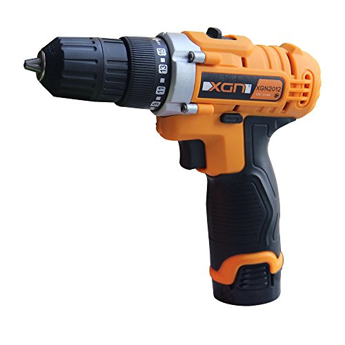 Cordless Electric Drill/ScrewDriver 12Volt 2 Speed 3/8Inch Keyless Chuck 15+1 Clutch Positions with LED Light 2 Rechargeable Lithium Ion Batteries,11Pcs Drill Bits Set and Flexible Shaft - 12v 2 Speed Reversible Drill