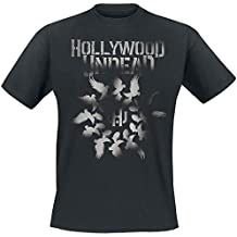 Hollywood Undead Unisex-Adult's Official Dove Grenade Spiral T Shirt (Black)