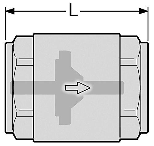 R/ückschlagventil//Schwerkraftbremse 1 Zoll Innengewinde beidseitig