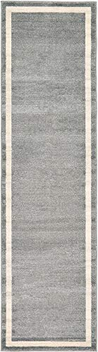 Unique Loom Del Mar Collection Contemporary Transitional Gray Runner Rug (2' 7 x 10' 0) 2'3'x10' Runner Area Rug